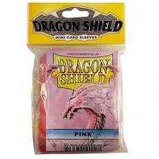 Dragon Shield 50 - Mini Size Deck Protector Sleeves - Pink - AT-10112
