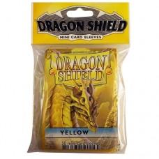 Dragon Shield 50 - Mini Size Deck Protector Sleeves - Yellow - AT-10114