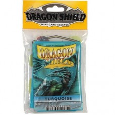 Dragon Shield 50 - Mini Size Deck Protector Sleeves - Turquoise - AT-10115