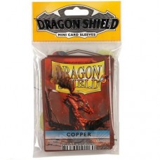Dragon Shield 50 - Mini Size Deck Protector Sleeves - Copper - AT-10116
