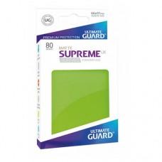 Ultimate Guard 80 - Supreme UX Sleeves Standard Size - Matte Light Green - UGD010553