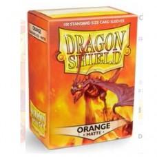 Dragon Shield 100 - Standard Deck Protector Sleeves - Matte Orange - AT-11013
