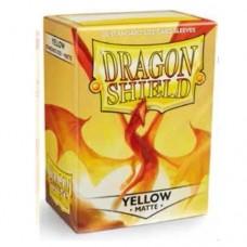 Dragon Shield 100 - Standard Deck Protector Sleeves - Matte Yellow - AT-11014