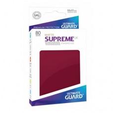 Ultimate Guard 80 - Supreme UX Sleeves Standard Size - Matte Burgundy - UGD010608