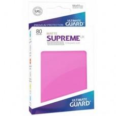 Ultimate Guard 80 - Supreme UX Sleeves Standard Size - Matte Pink - UGD010562