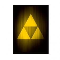 Legion Supplies 50 - Double Matte Deck Protector Sleeves - Super Iconic Tri-Force - MAT124