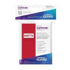 Ultimate Guard 50 - Supreme UX Sleeves Standard Size - Matte Red - UGD010823