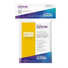 Ultimate Guard 50 - Supreme UX Sleeves Standard Size - Matte Yellow - UGD010826
