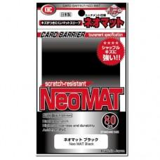 KMC 80 Card Barrier Sleeves - Neo Mat - Black