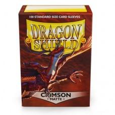 Dragon Shield 100 - Standard Deck Protector Sleeves - Matte Crimson - AT-11021