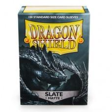 Dragon Shield 100 - Standard Deck Protector Sleeves - Matte Slate - AT-11027