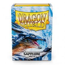 Dragon Shield 100 - Standard Deck Protector Sleeves - Matte Sapphire - AT-11028