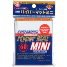 KMC 60 card sleeves deck protectors - Mini Hyper Matte - White (New Design)