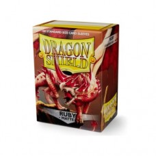 Dragon Shield 100 - Standard Deck Protector Sleeves - Matte Ruby - AT-11037