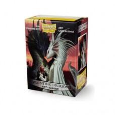Dragon Shield 100 - Standard Deck Protector Sleeves - Art Sleeve Valentine Dragons - AT-12019
